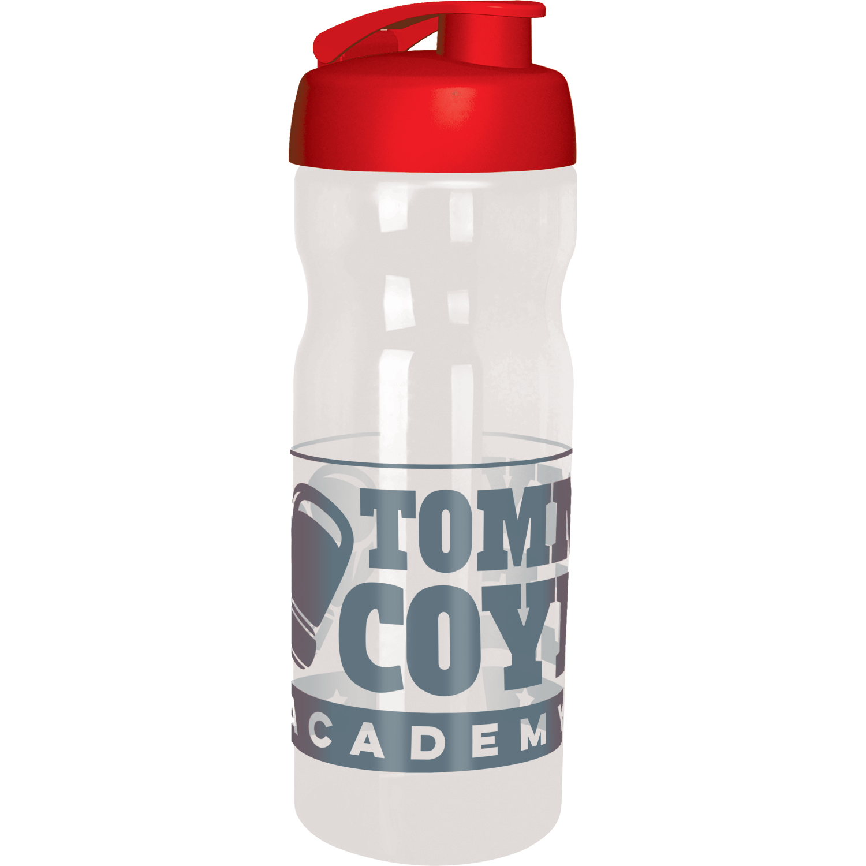 Clear Bottle - Red Flip Lid