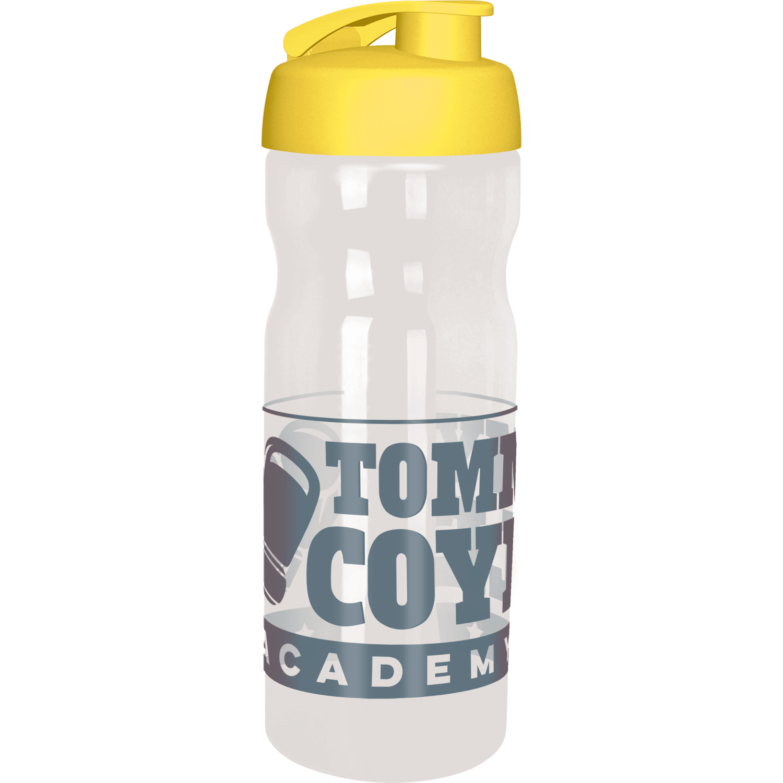 Clear Bottle - Yellow Flip Lid