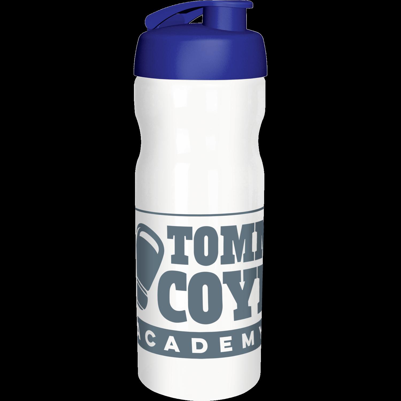 Solid White Bottle - Blue Flip Lid