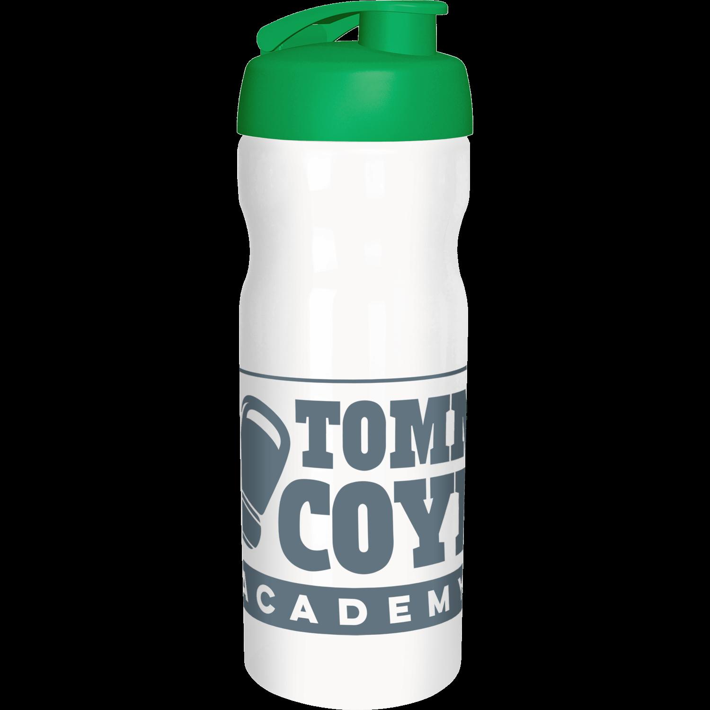 Solid White Bottle - Green Flip Lid
