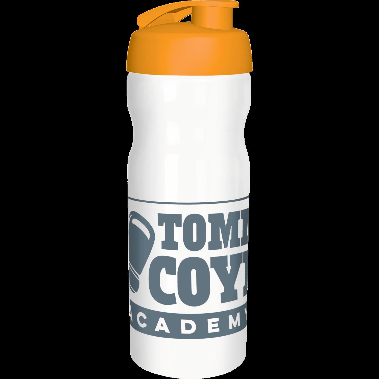 Solid White Bottle - Orange Flip Lid