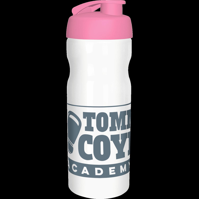 Solid White Bottle - Pink Flip Lid