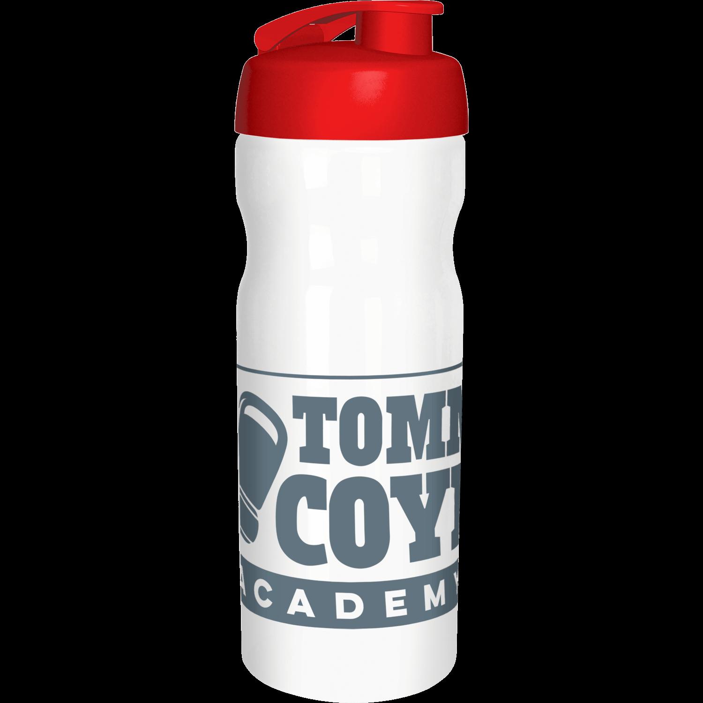 Solid White Bottle - Red Flip Lid