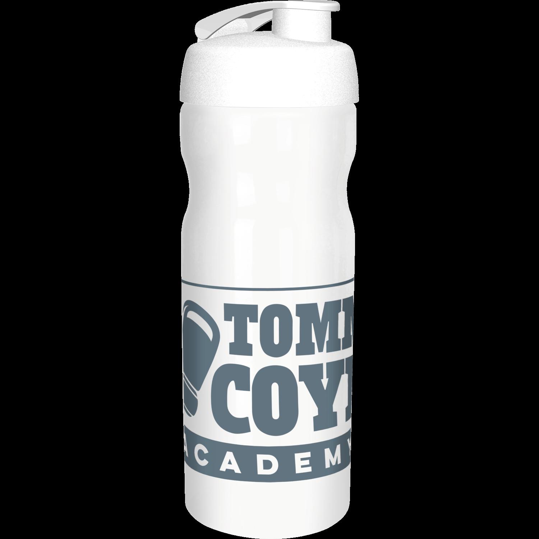 Solid White Bottle - White Flip Lid