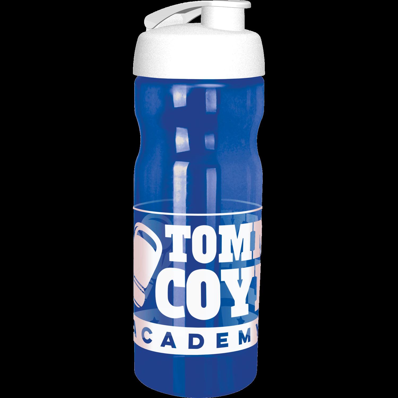 Trans Blue Bottle - White Flip Lid