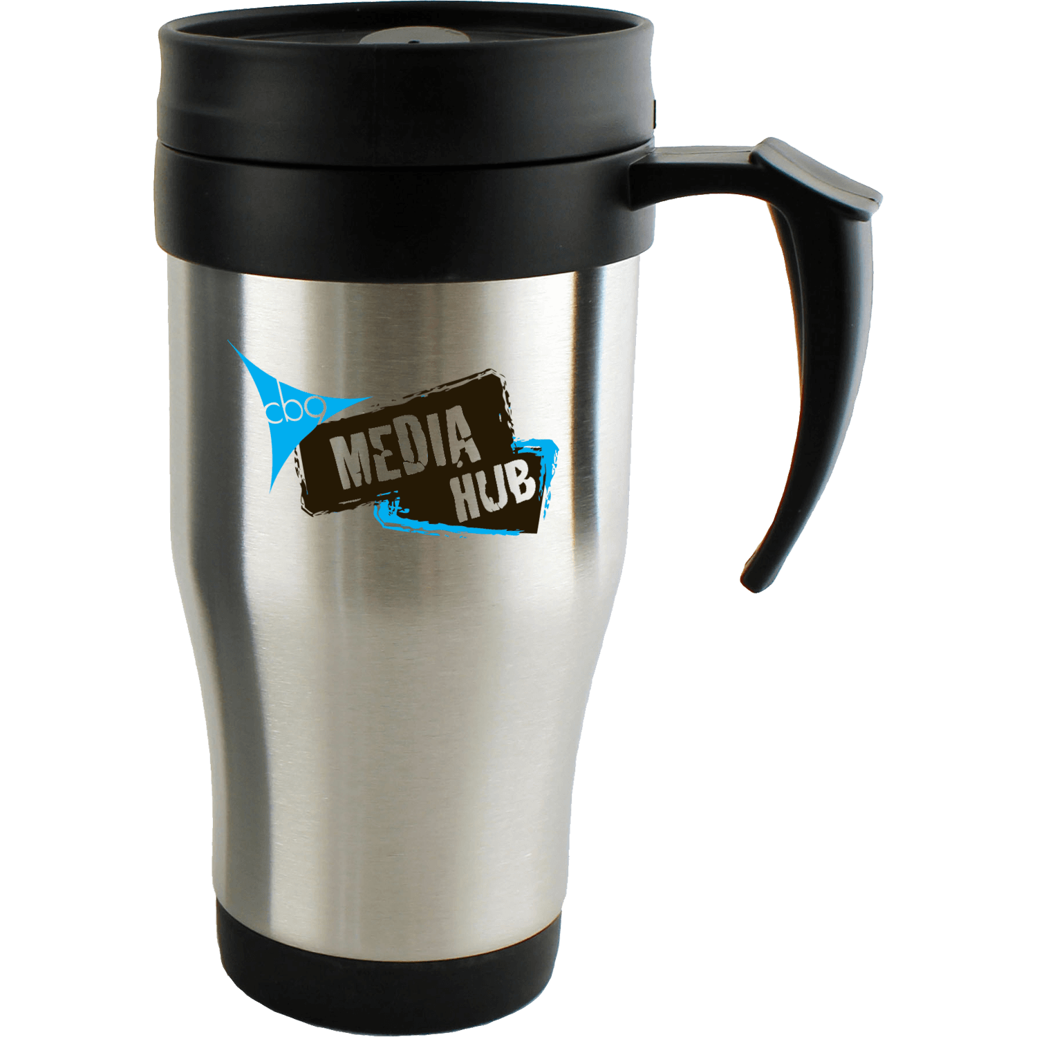 Printed Stainless Steel Travel Mug with Slider