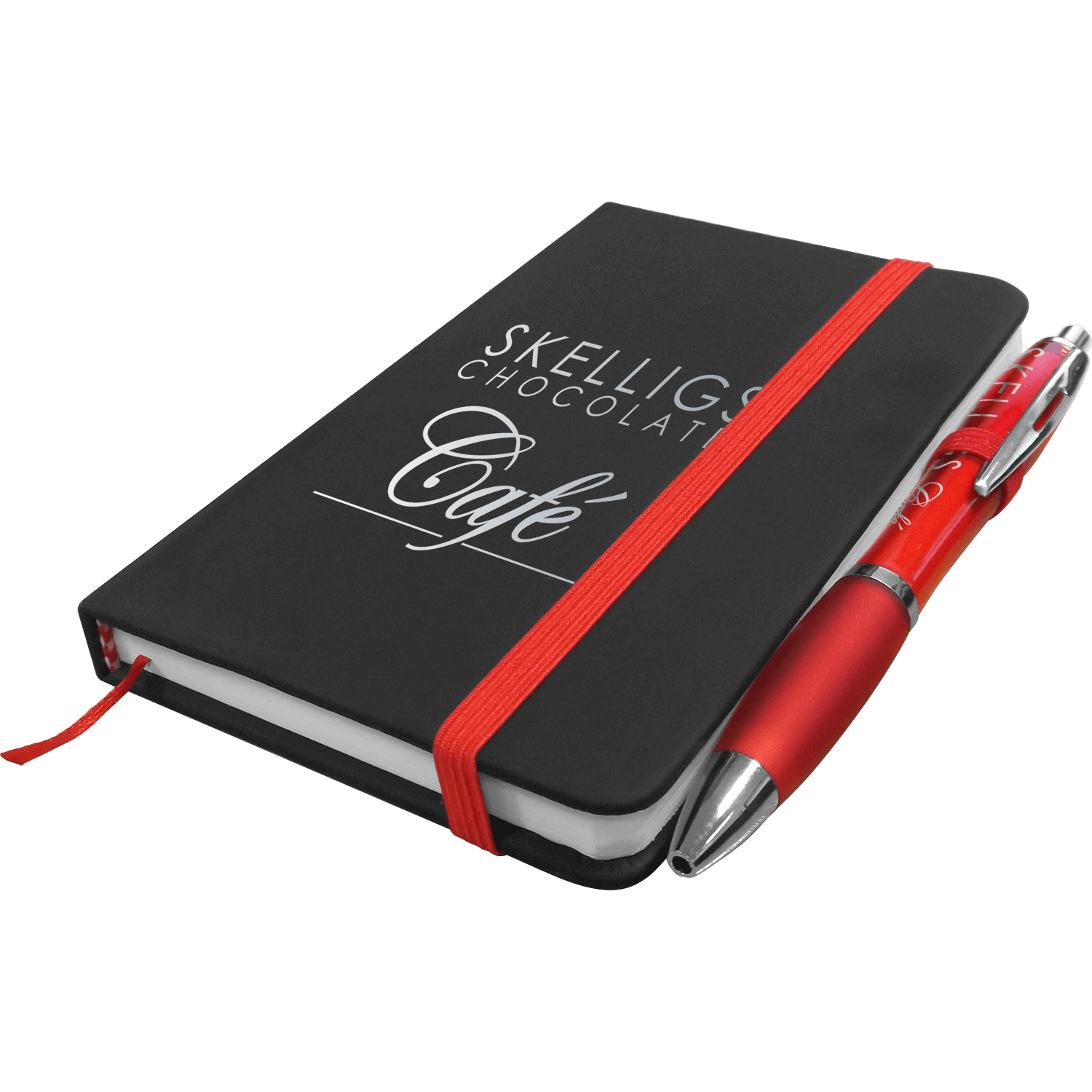Noir Mini Notebook with Free Curvy Pen