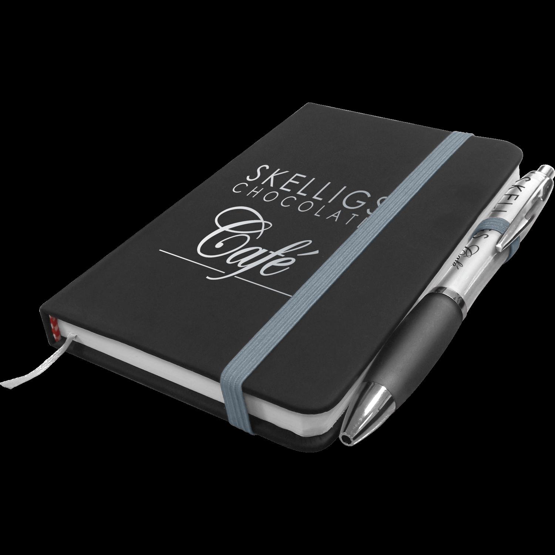 Noir Mini Notebook with Free Curvy Pen