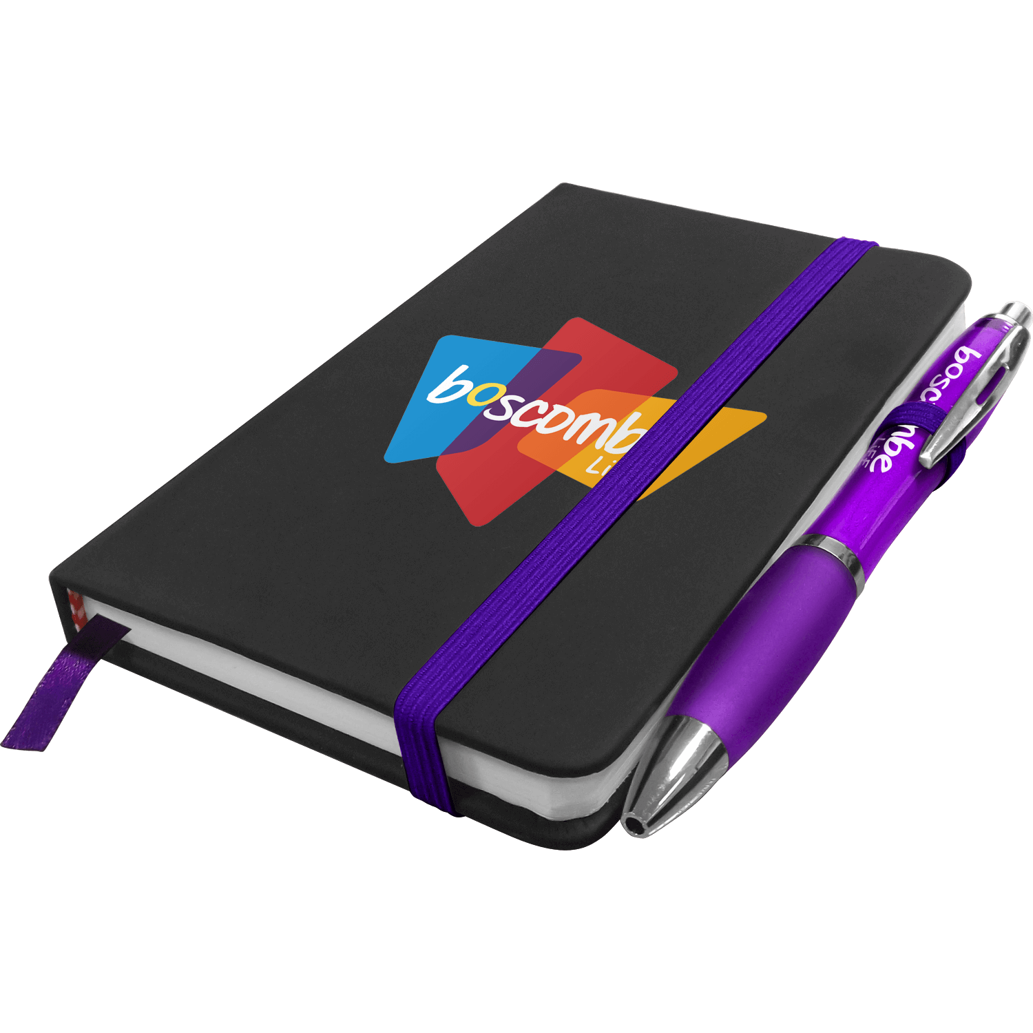 A6 Full Colour Noir Notebook with Free Curvy Pen