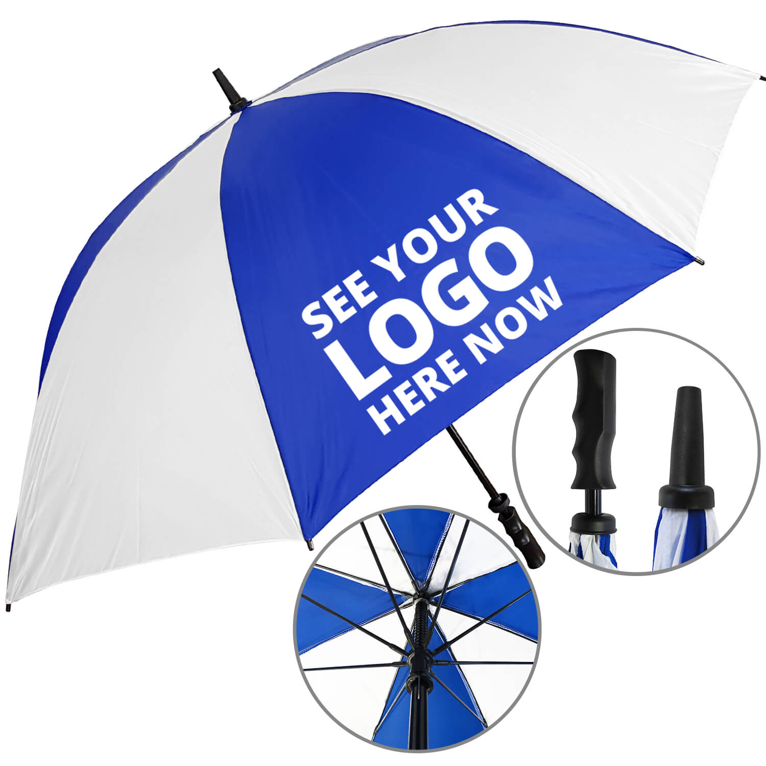 Value Fibrestorm Golf Umbrella - 1 Panel Print
