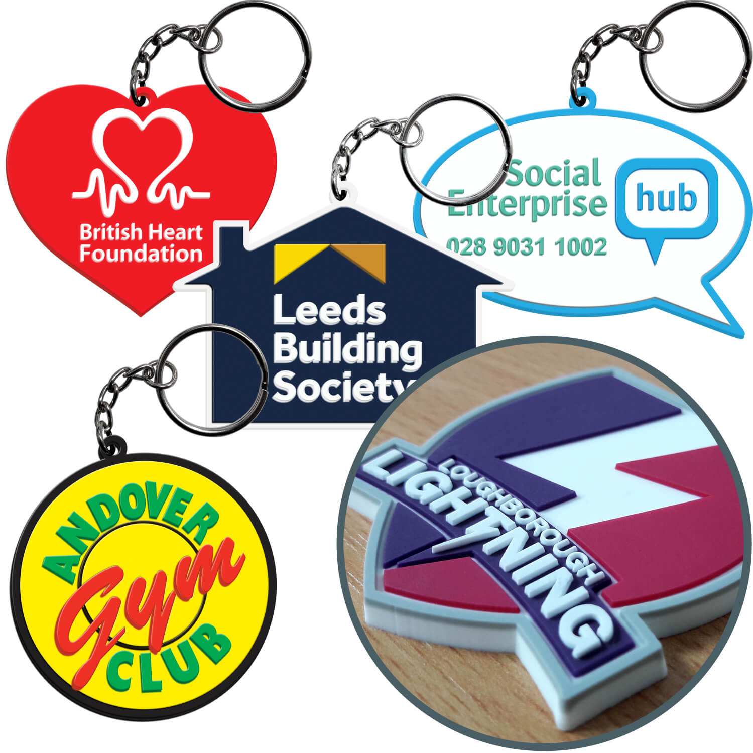 Personalised 3D PVC Keyrings