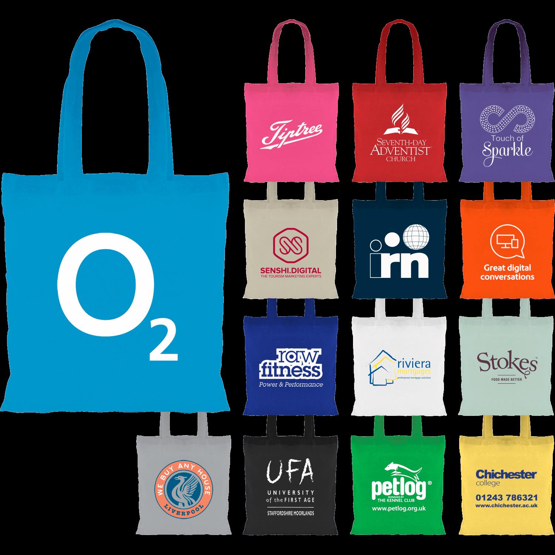 Eco Long Handle Coloured Tote Bag
