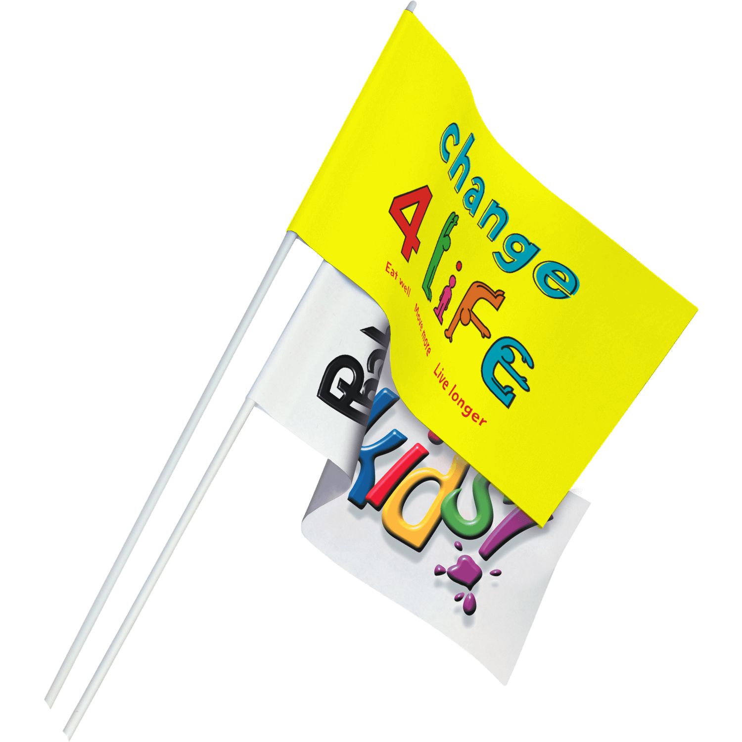 Full Colour Printed Paper Flags