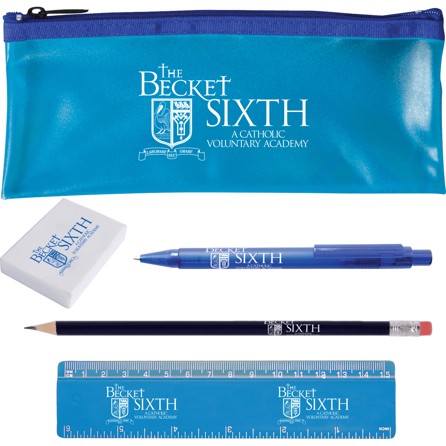 Printed Pencil Case Set