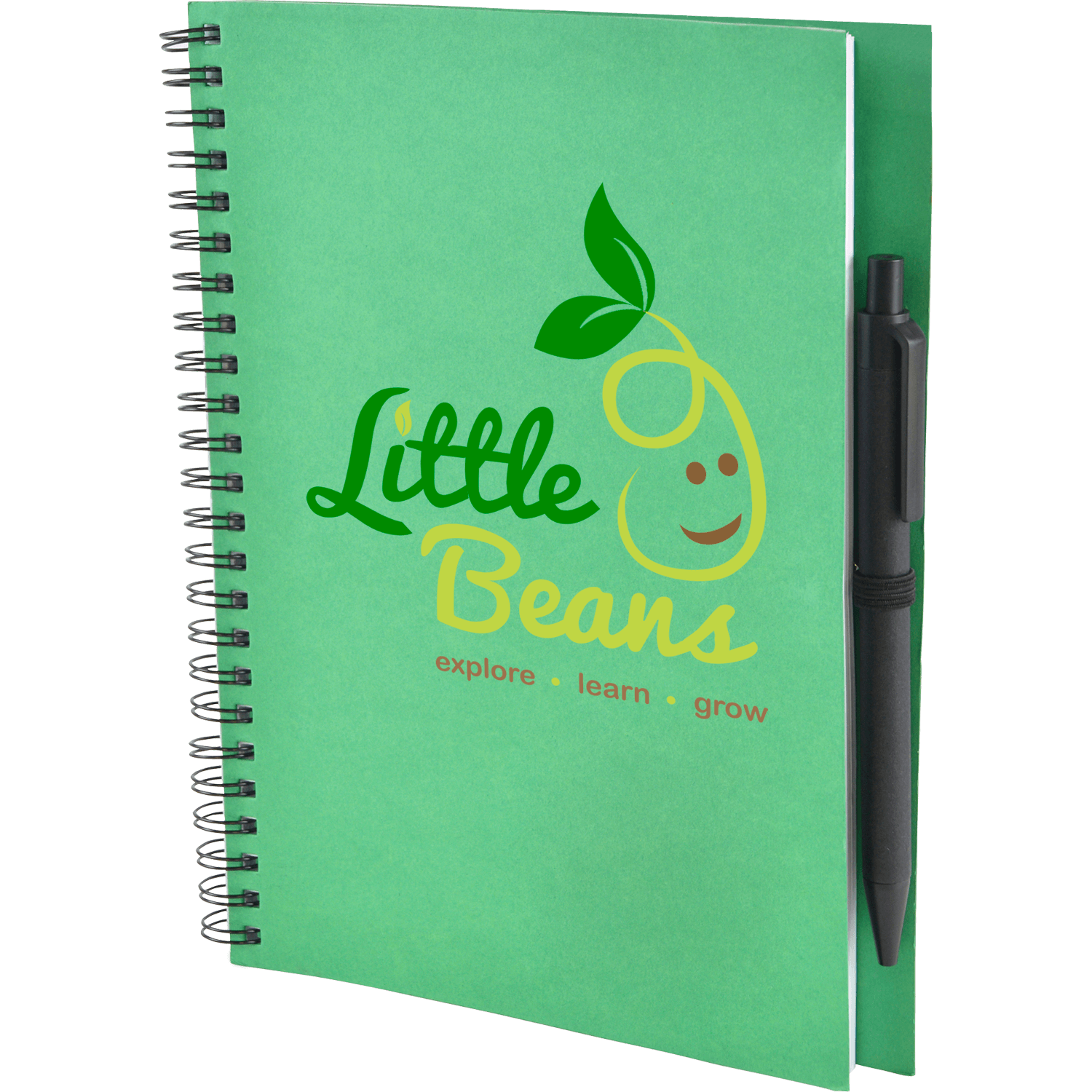 A5 Recycled Card Notebook with Pen