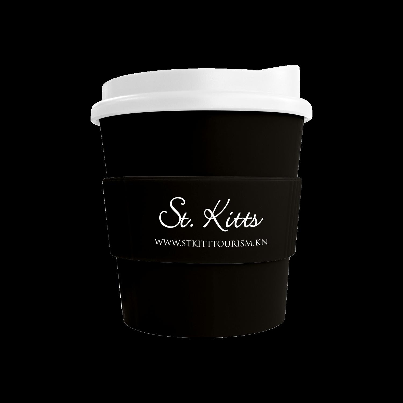 Black Mug - White Lid - Black Grip