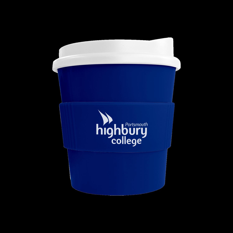 Blue Mug (280) - White Lid - Blue Grip (280)