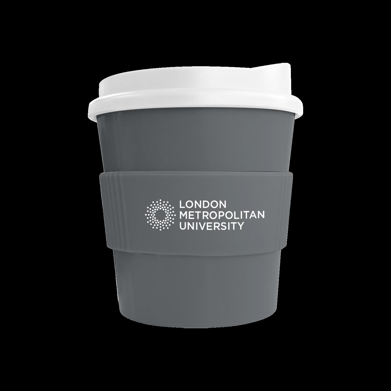 Grey Mug (444u) - White Lid - Grey Grip (444u)