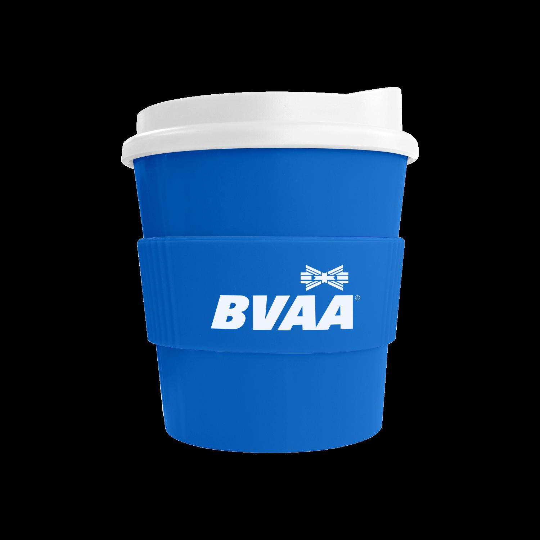 Mid Blue Mug (300) - White Lid - Mid Blue Grip (300)