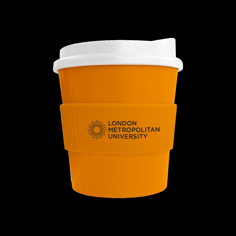 Orange Mug (151) - White Lid - Orange Grip (151)