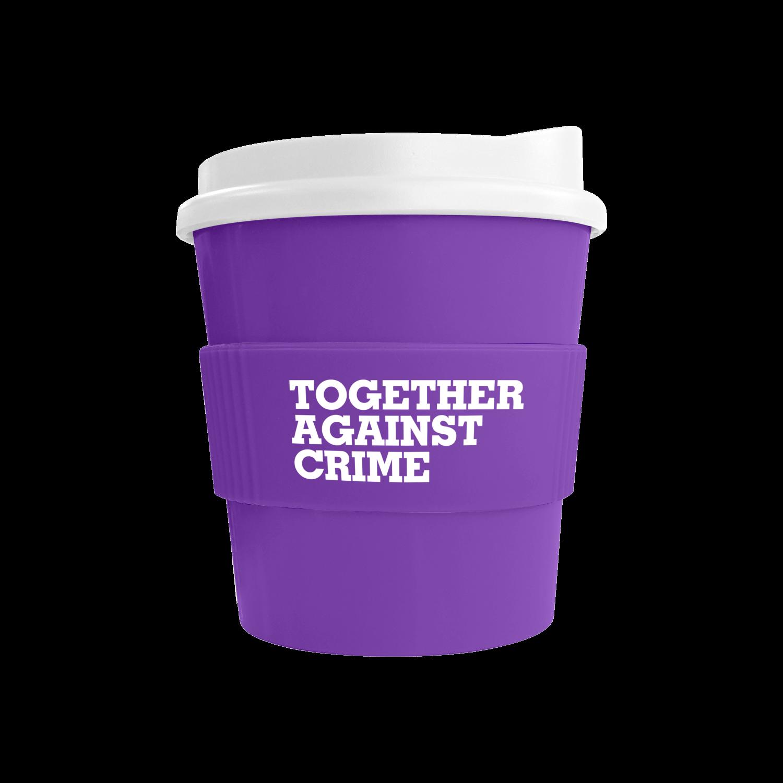 Purple Mug (2587) - White Lid - Purple Grip (2587)