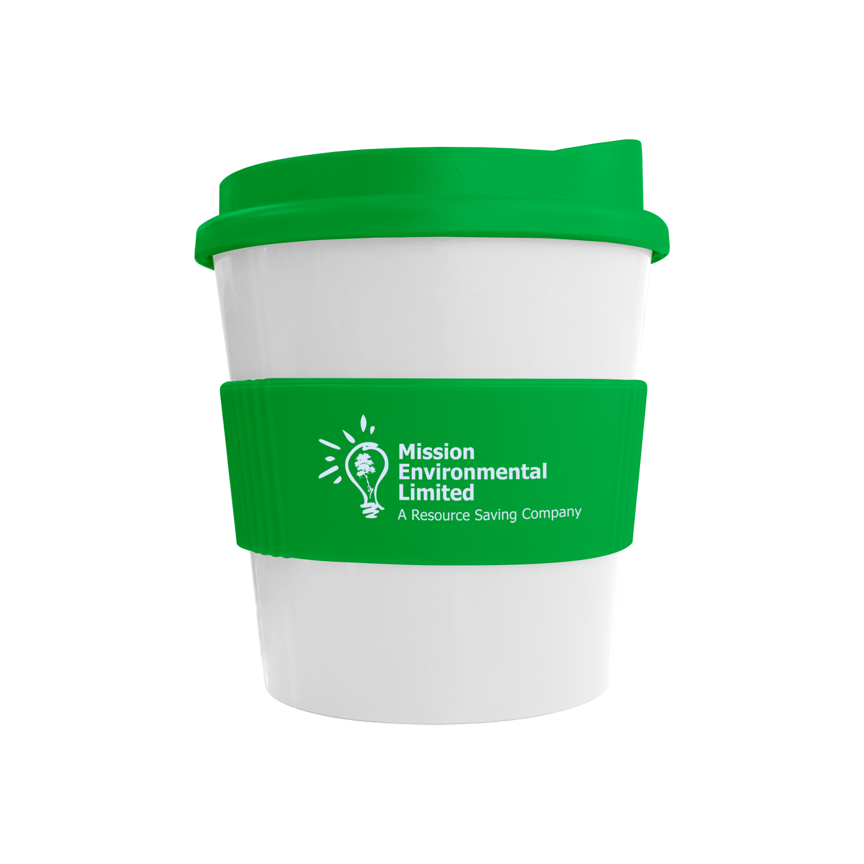 White Mug - Green Lid (7481) - Green Grip (7481)