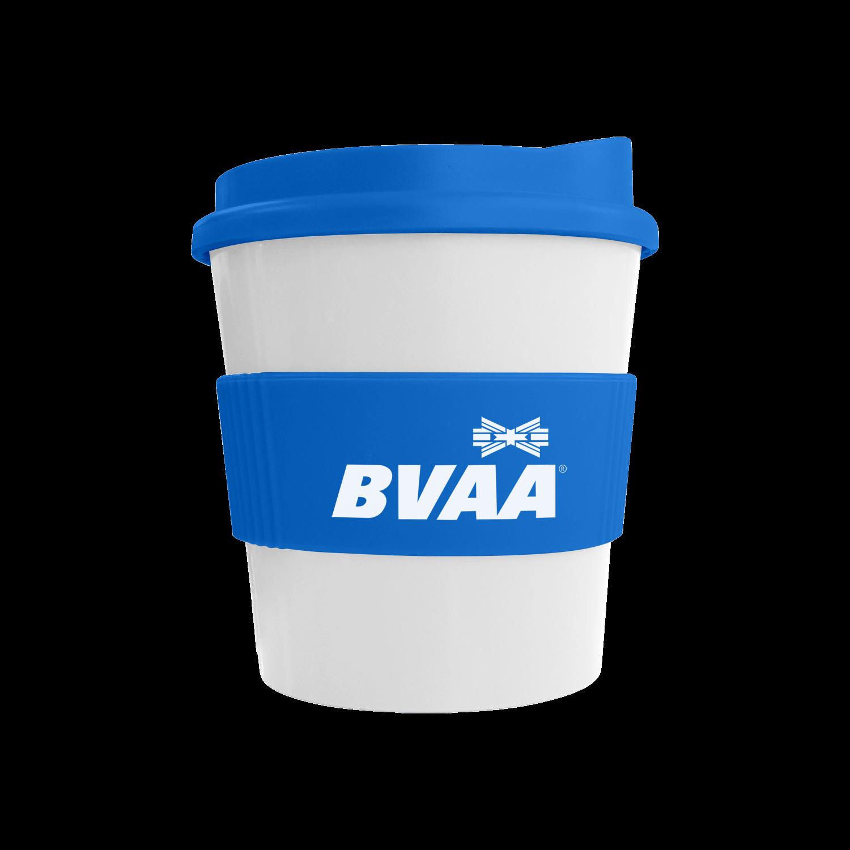 White Mug - Mid Blue Lid (300) - Mid Blue Grip (300)