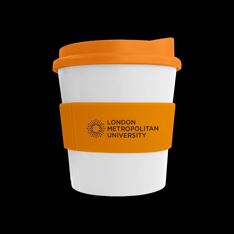 White Mug - Orange Lid (151) - Orange Grip (151)