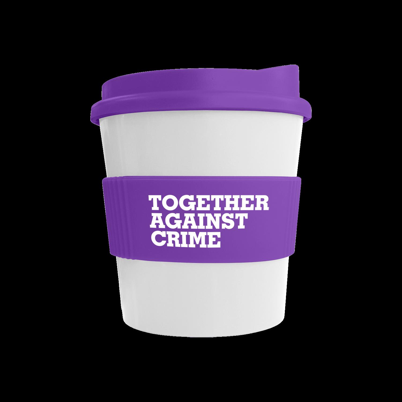 White Mug - Purple Lid (2587) - Purple Grip (2587)