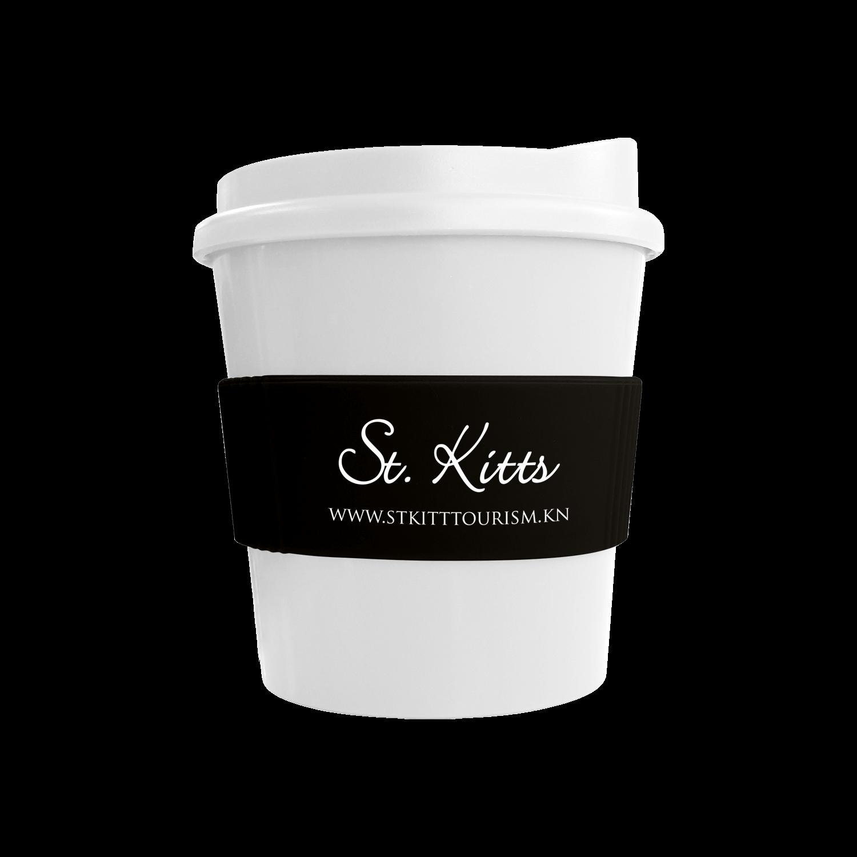 White Mug - White Lid - Black Grip