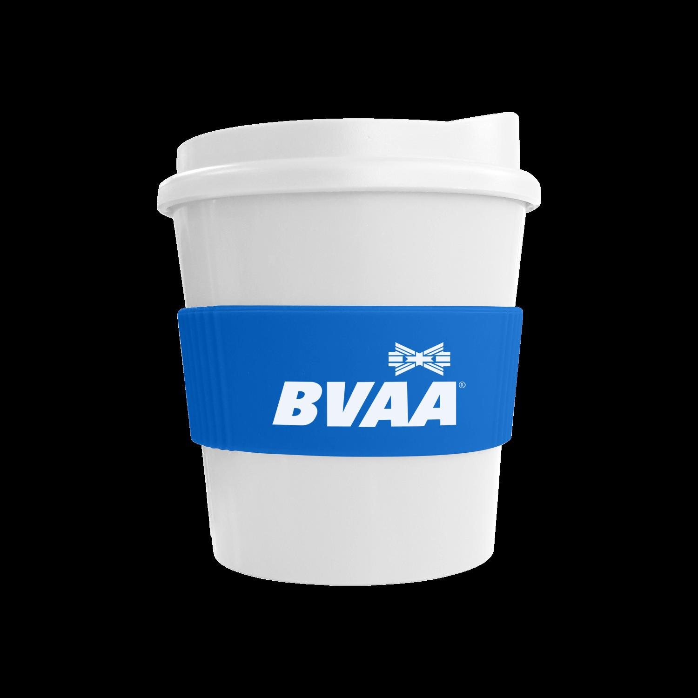 White Mug - White Lid - Mid Blue Grip (300)
