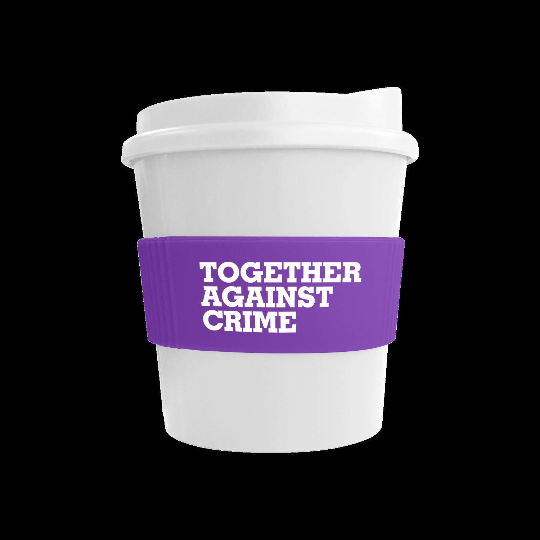 White Mug - White Lid - Purple Grip (2587)