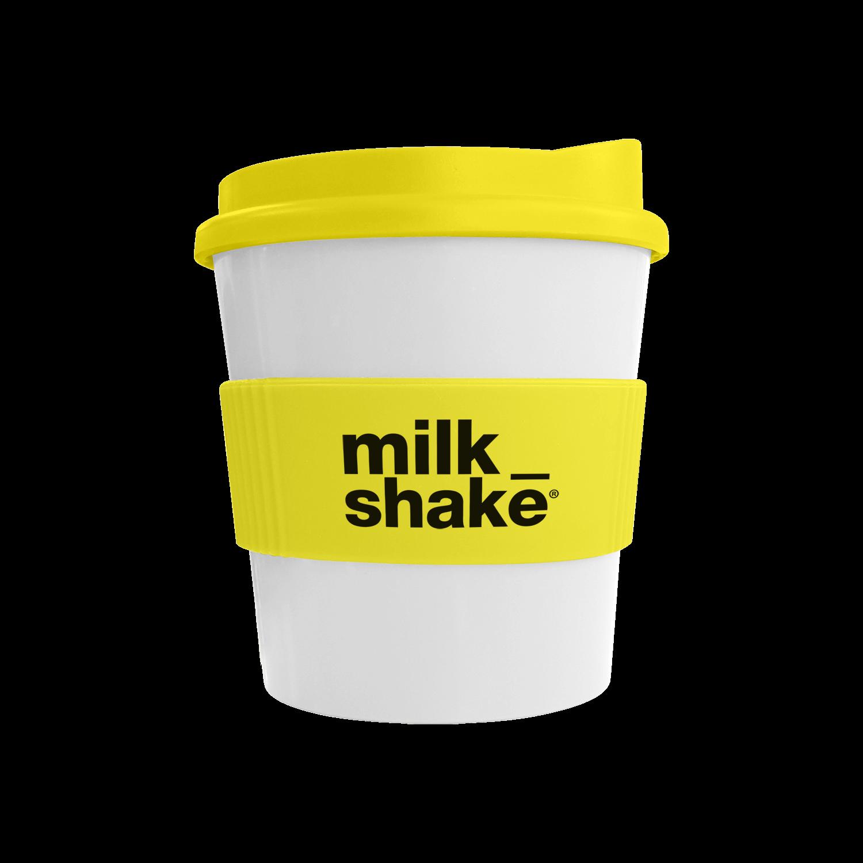 White Mug - Yellow Lid (114) - Yellow Grip (114)