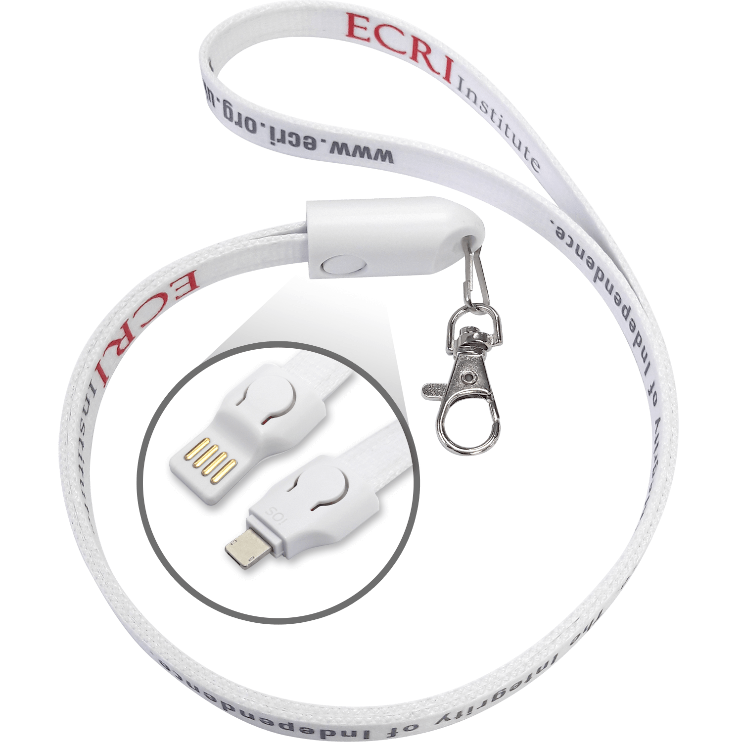 2 in 1 USB Lanyard Cables