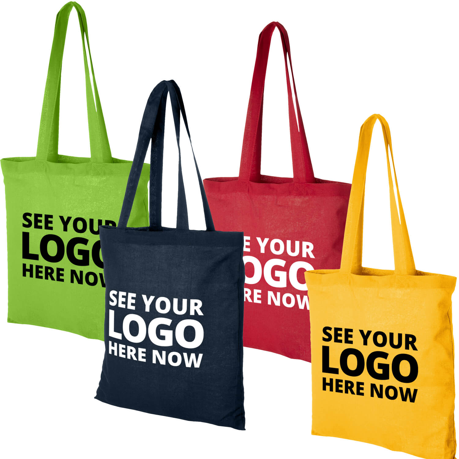 Value Cotton Printed Tote Bags
