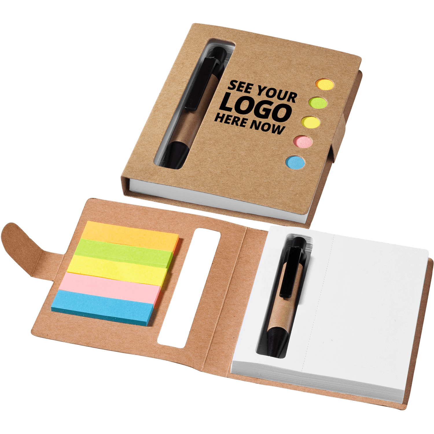 Window Sticky Notebook Set With Pen