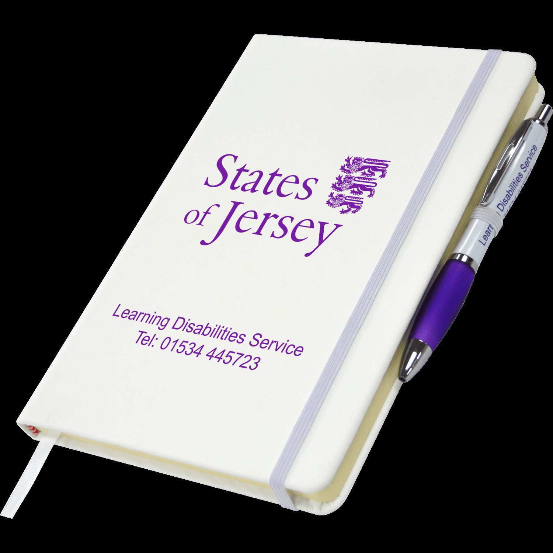 White - White & Purple Pen
