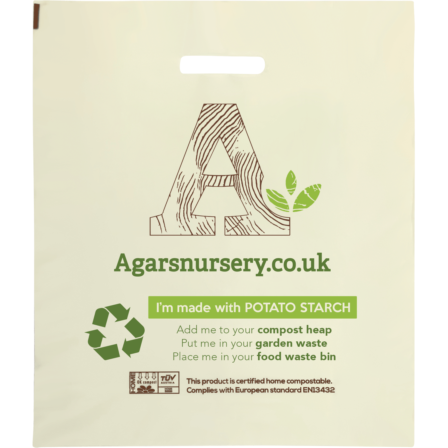 100% Compostable Potato Starch Carrier Bags