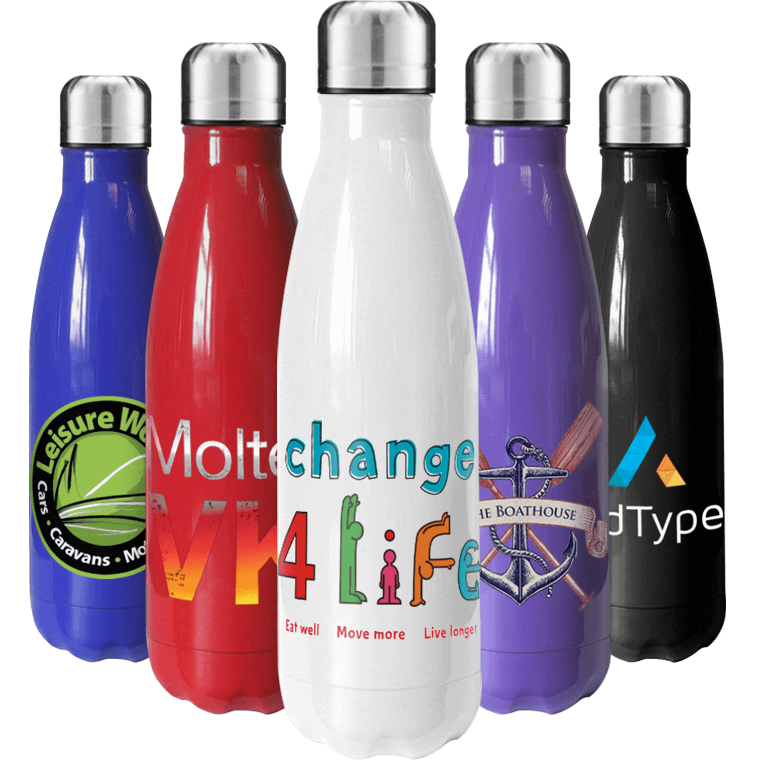 Full Colour Metal Bottles