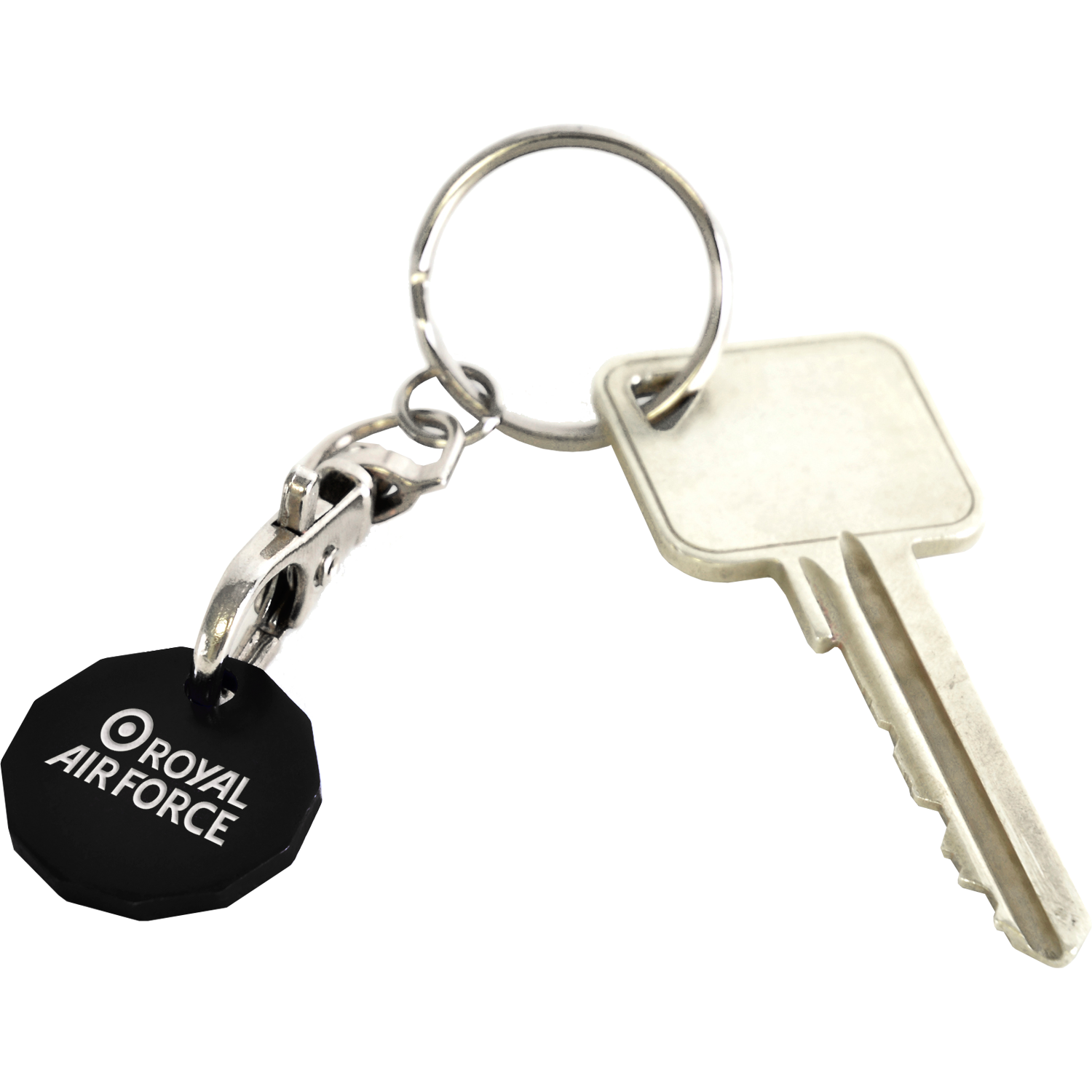 3 Day Metal Engraved £1 Trolley Coin Keyring