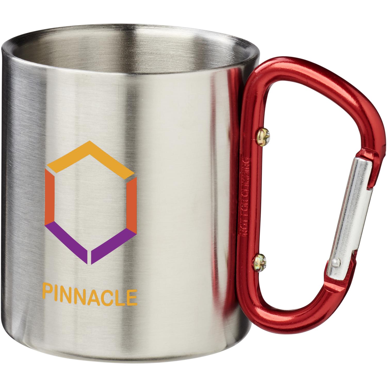 Mug with carabiner