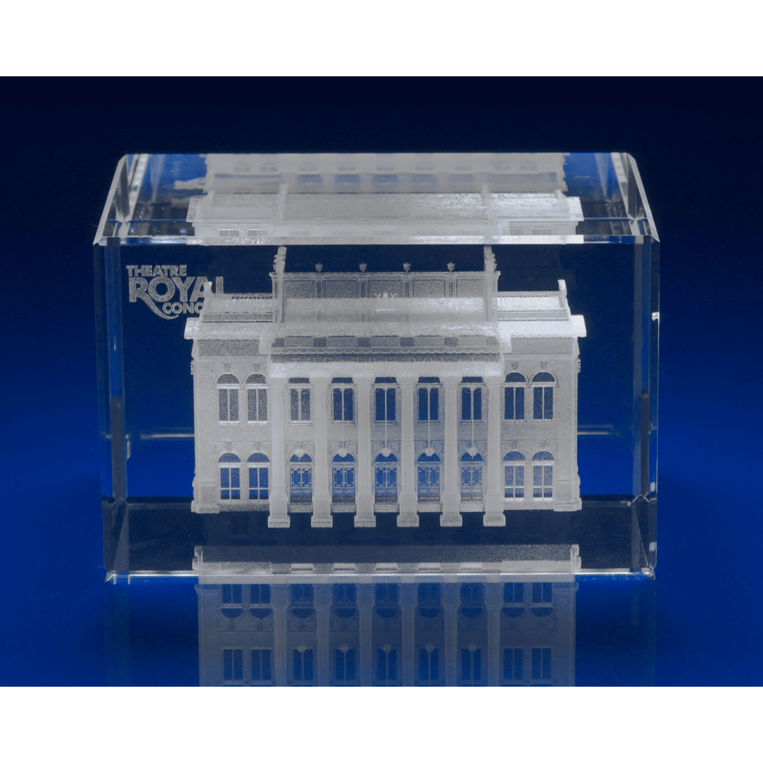 3D Engraved Crystal Award Rectangle