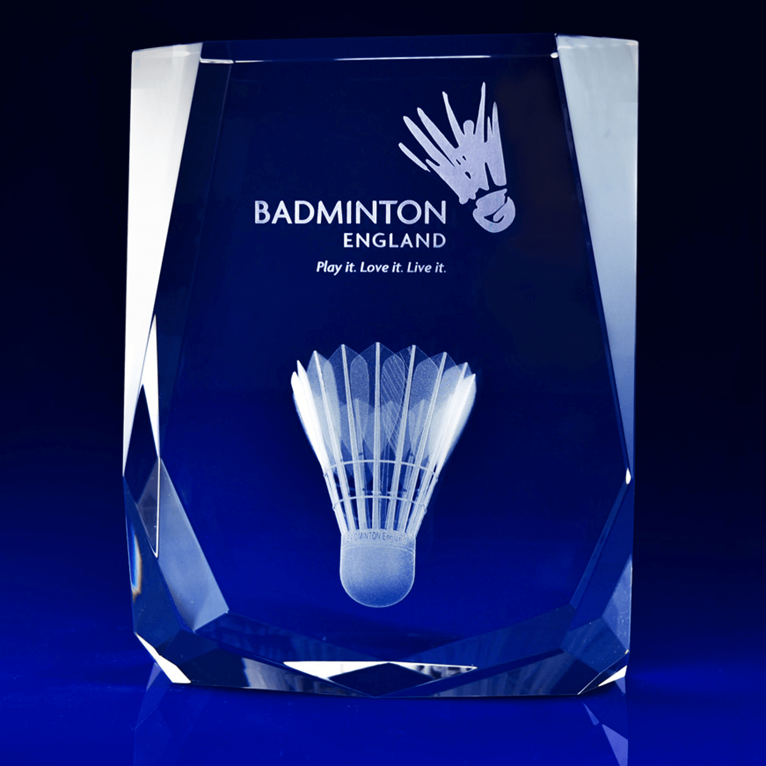 3D Engraved Chamonix Glass Trophy