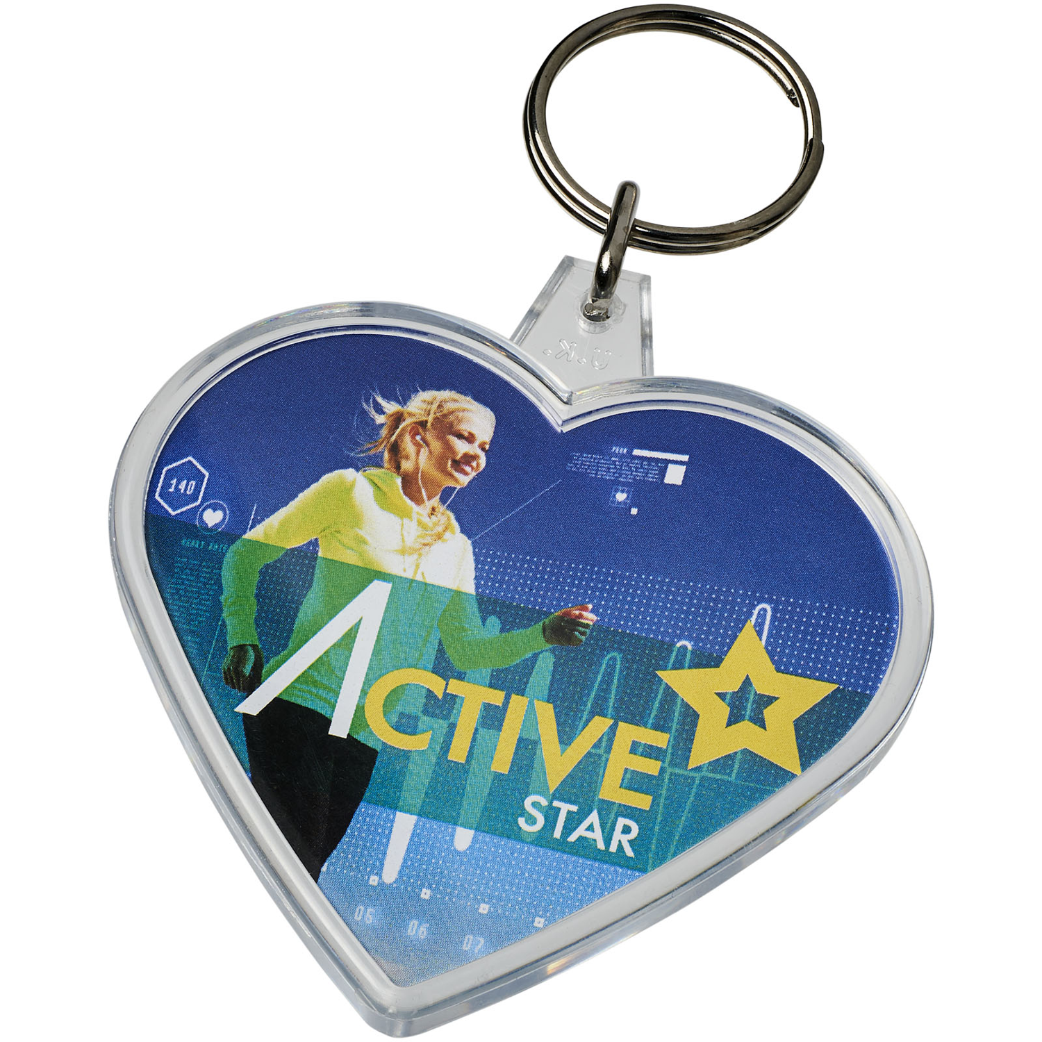 Combo Heart-Shaped Keychain