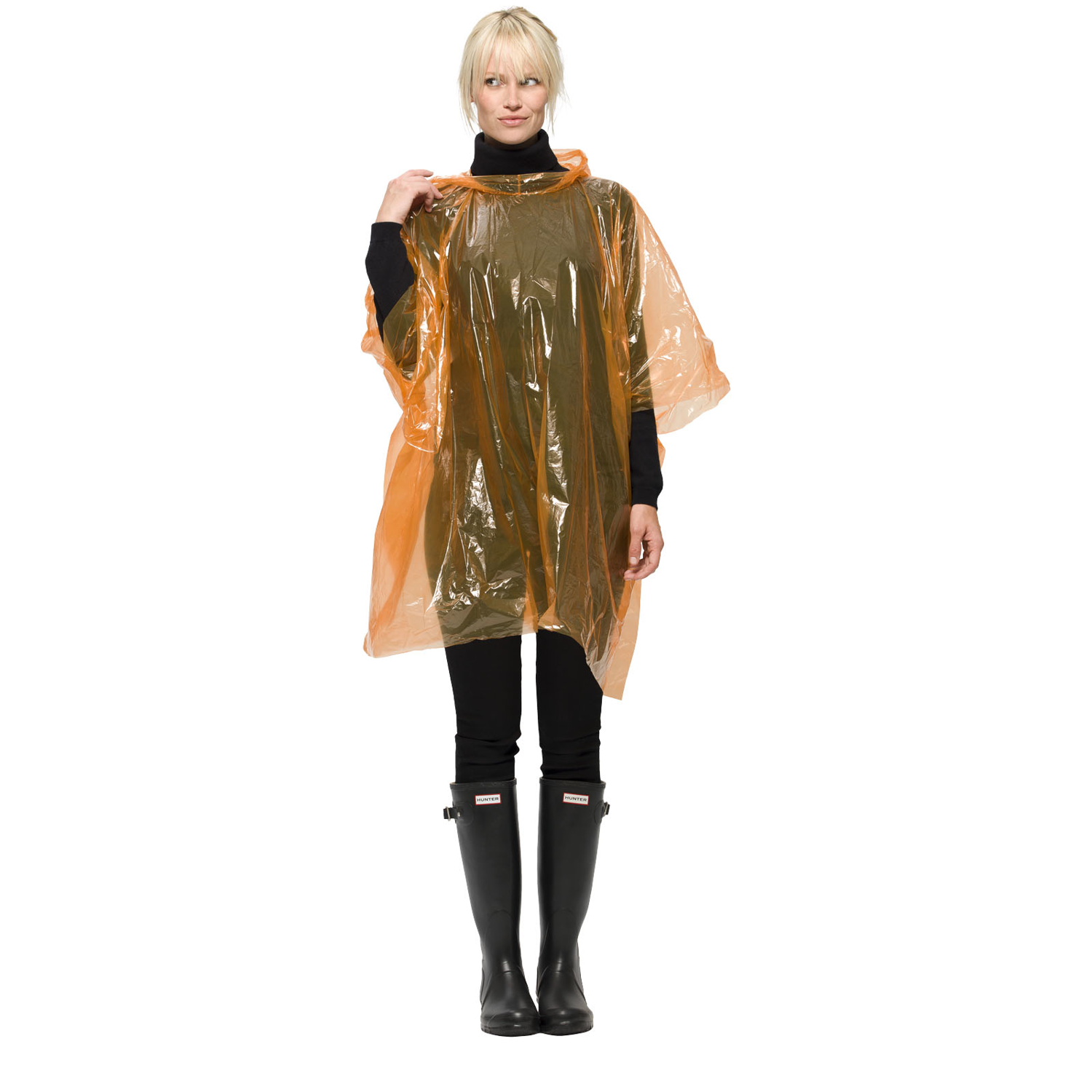 Huko Disposable Rain Poncho With Storage Pouch