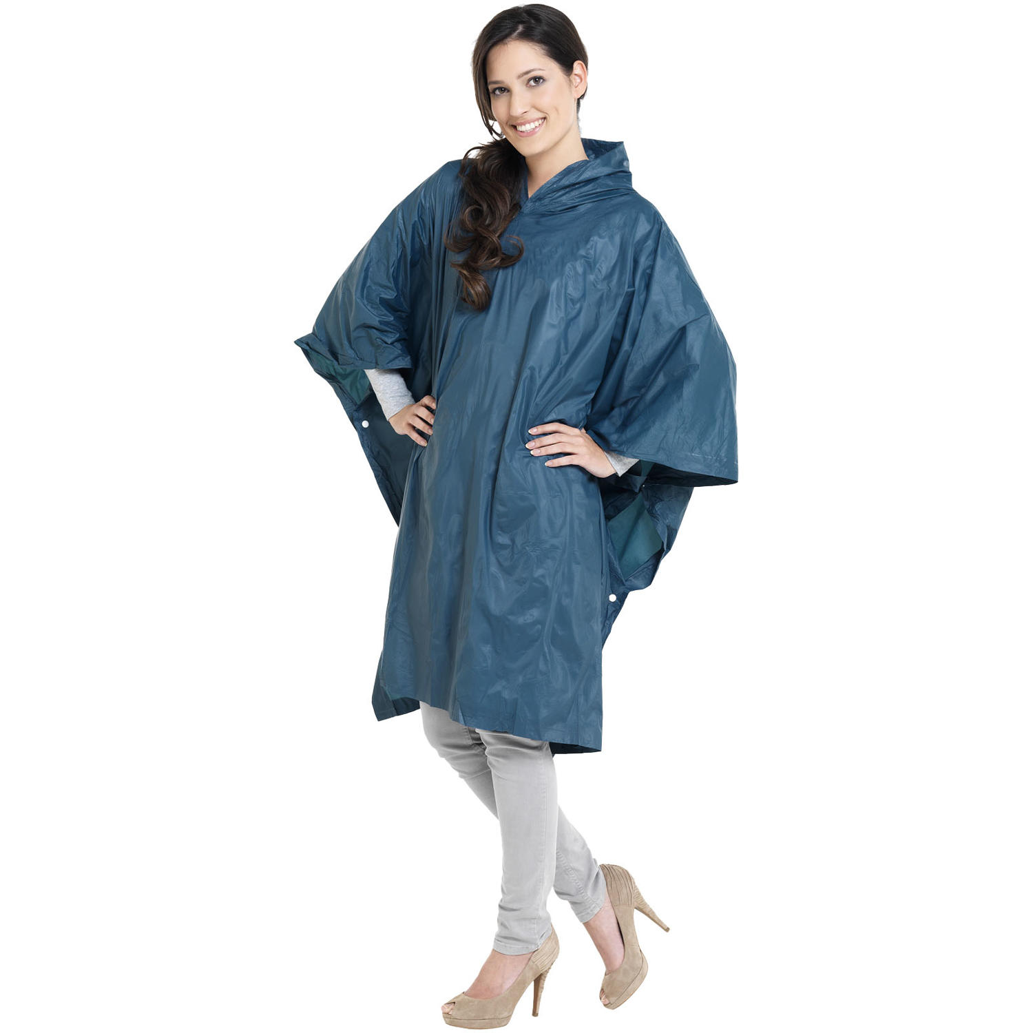 Pilar Adjustable Rain Poncho With Storage Pouch