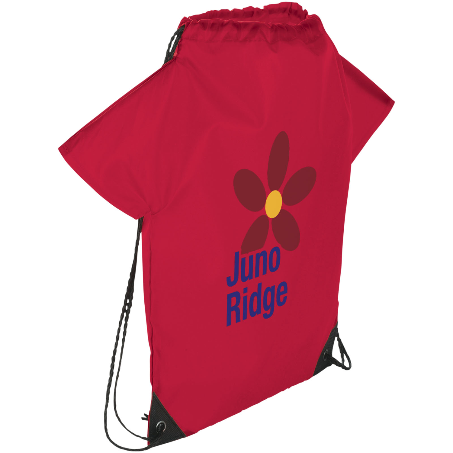Cheer T-Shirt-Shaped Drawstring Backpack