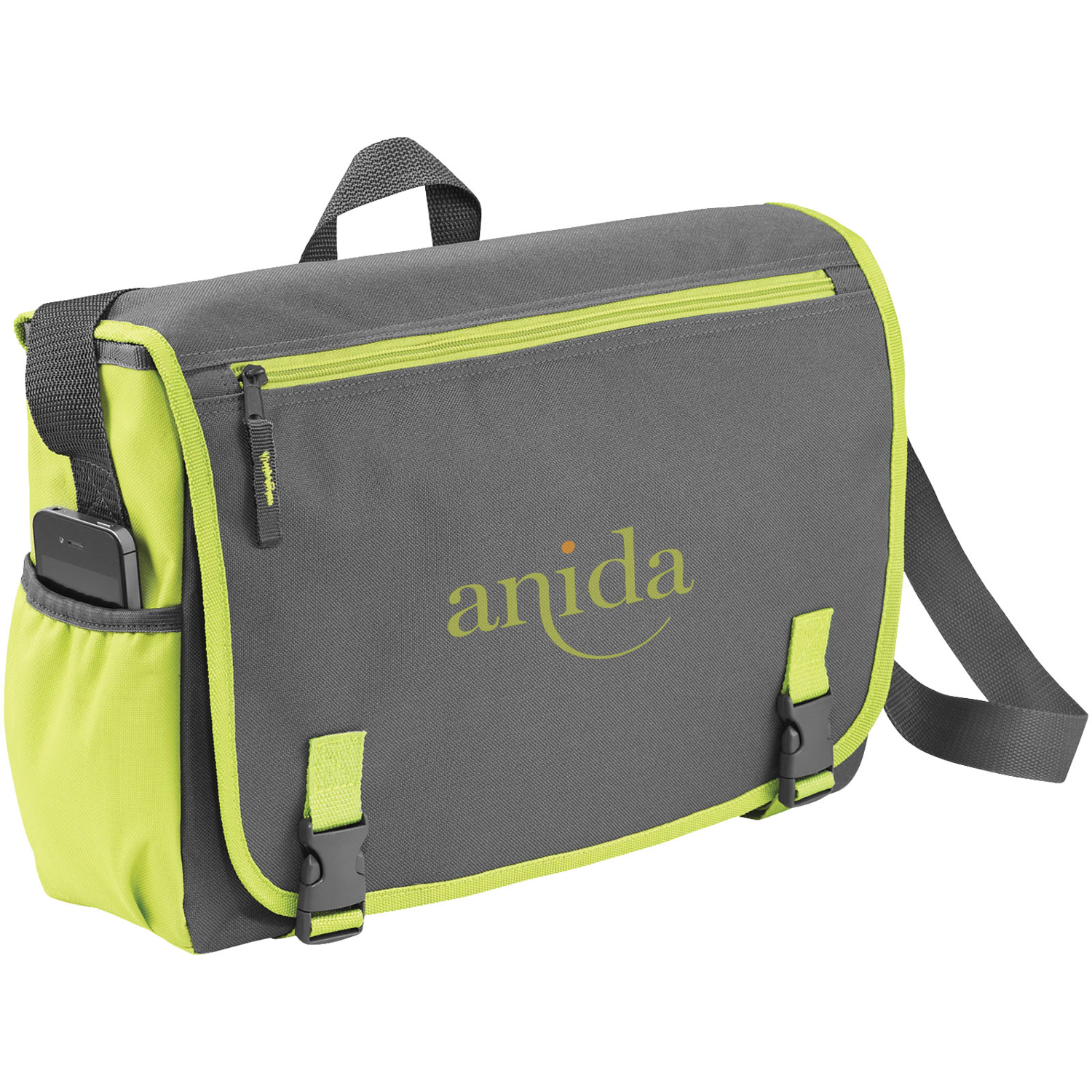 "Punch 15.6"" Laptop Messenger Bag"