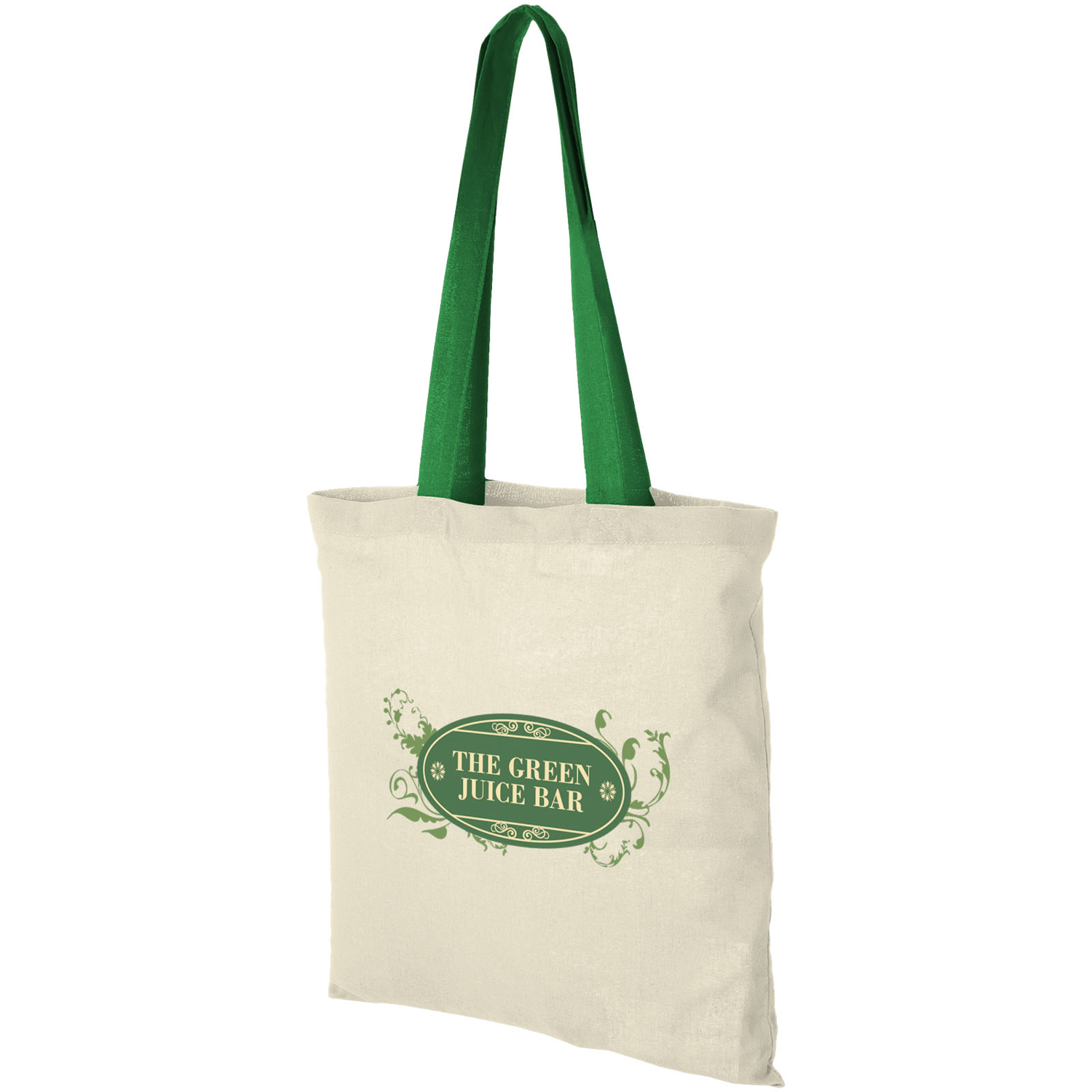 Nevada 100 G/M² Cotton Tote Bag Coloured Handles