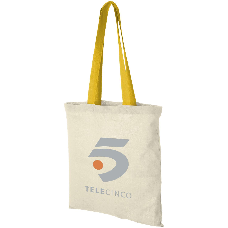Nevada 100 G/M² Cotton Tote Bag Coloured Handles